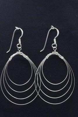 Zilveren Collier oorhangers