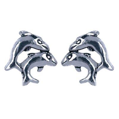 Zilveren Dolfijnen Oorstekers