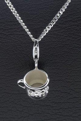 Zilveren Baby Peuter drinkbeker hanger en bedel