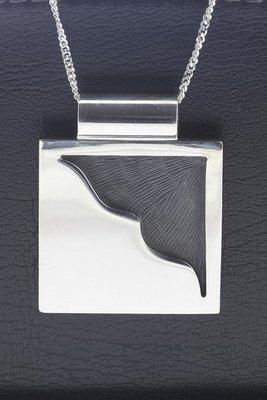 Zilveren Strand en zee XL ketting hanger