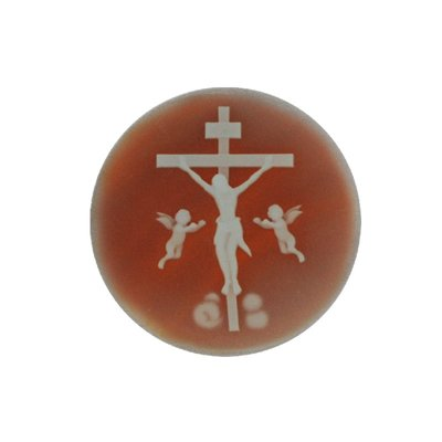 MY iMenso agate cameo insignia cross red 33mm - uitlopend