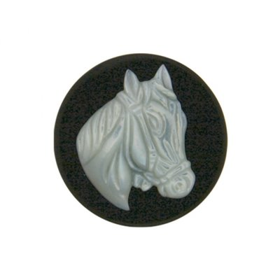 """MY iMenso M.o.P. """"horse"""" 33mm """"onyx"""" insignia - uitlopend"""