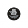 "MY iMenso ""angel"" agate cameo 24mm insignia (black) - uitlopend"