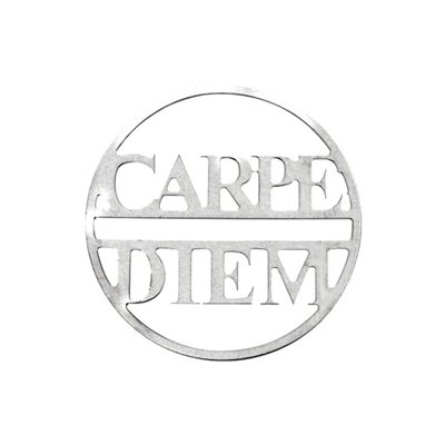 "MY iMenso ""carpe diem"" 33mm fantasy insignia (925/rhod-plated)"