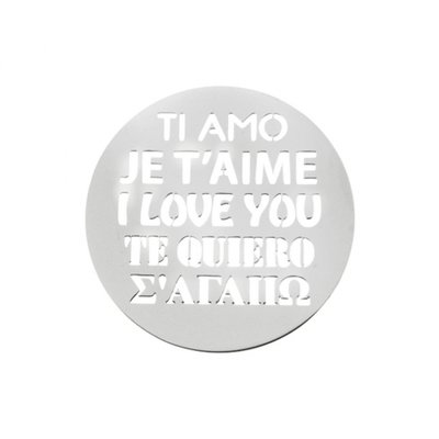 "MY iMenso ""i love you"" cover 33mm insignia (925/rhod-plated) - uitlopend"