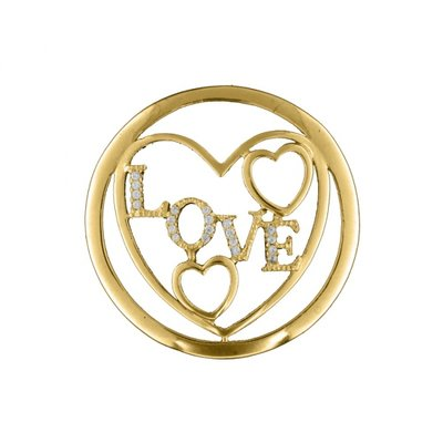 "MY iMenso ""love"" fantasy insignia 33mm (925/gold-plated)"