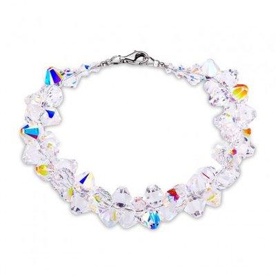 Armband met swarovski kristallen 20 cm