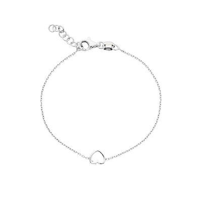 Zilveren Kinderarmband met open hart 15-17 cm