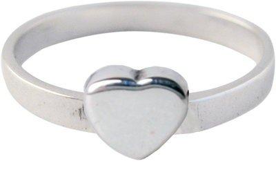 Zilveren Kinder ring maat 13 t/m 15 mm. met Hart grote liefde