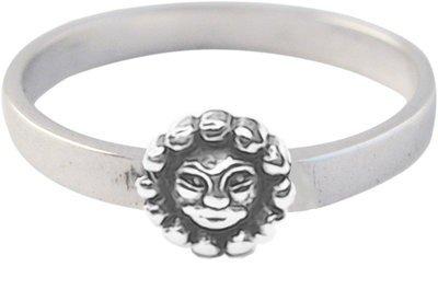 """Zilveren Kinder ring maat 13 t/m 15 mm. met """"Jij bent mijn zonnetje"""""""