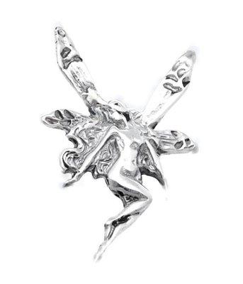 Zilveren Elf kettinghanger