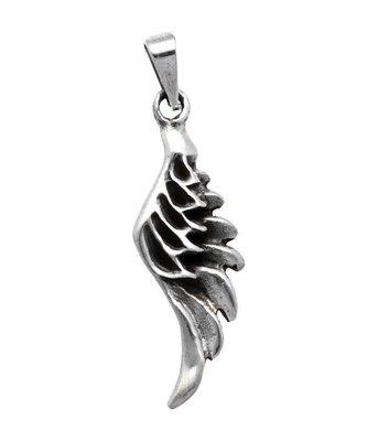 Zilveren Engelvleugel kettinghanger