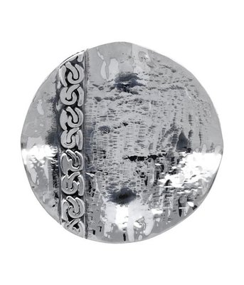 Zilveren Design schotel met gourmetring kettinghanger