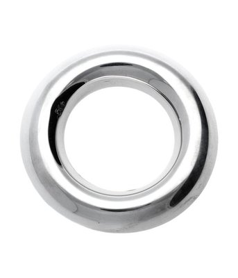 Zilveren Ring bol rond massief XL kettinghanger