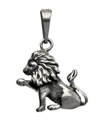 Zilveren Leeuw kettinghanger