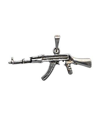 Zilveren Machinegeweer kettinghanger