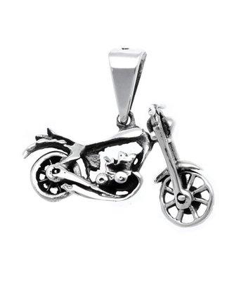 Zilveren Motor voorvork en wiel beweegbaar kettinghanger