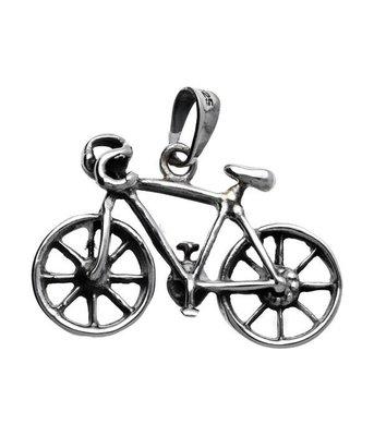 Zilveren Racefiets XL kettinghanger