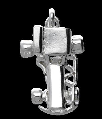 Zilveren Stockcar kettinghanger