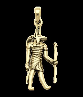 Gouden Egyptische God Anubis kettinghanger