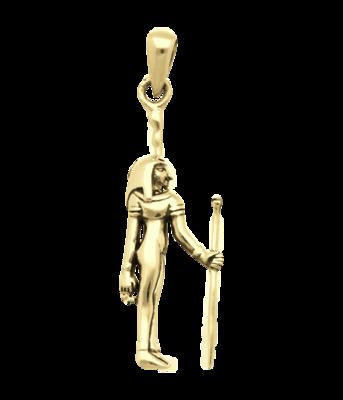 Gouden Egyptische Godin Maät kettinghanger