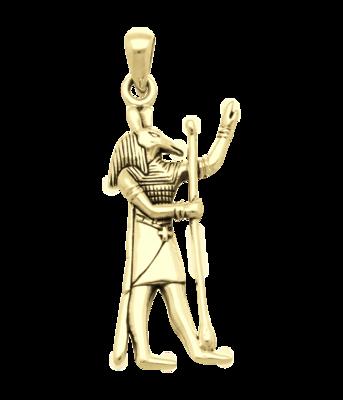 Gouden Egyptische God Seth kettinghanger