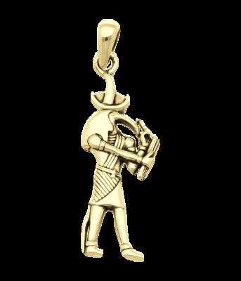 Gouden Egyptische God Toth kettinghanger