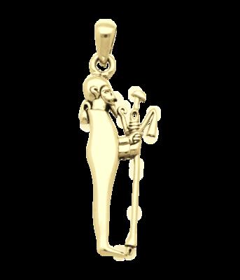 Gouden Egyptische God Ptah kettinghanger