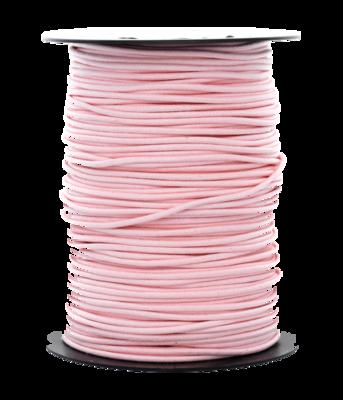 Waskoord 2.0 mm. licht roze waxkoord - per 10 meter