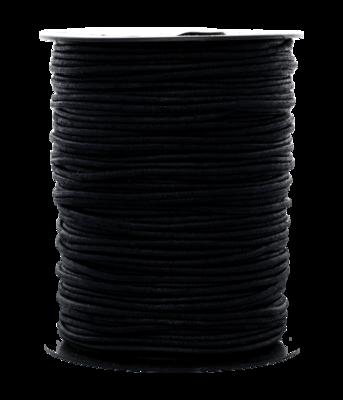 Waskoord 2.0 mm. zwart waxkoord - per 10 meter
