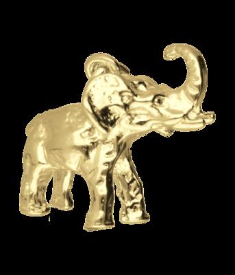 Gouden Olifant kettinghanger