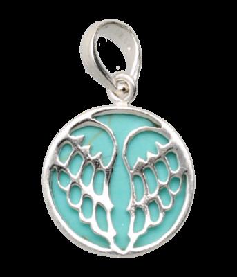 Zilveren Vleugels met turquoise kettinghanger