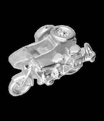 Zilveren BMW zijspan motor kettinghanger