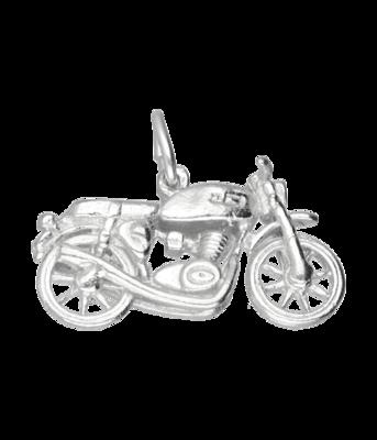 Zilveren Motor klein kettinghanger