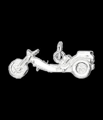 Zilveren Trike motor vlak kettinghanger
