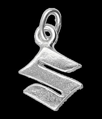 Zilveren Suzuki motor logo kettinghanger