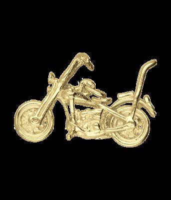 Gouden Harley Davidson Chopper motor kettinghanger