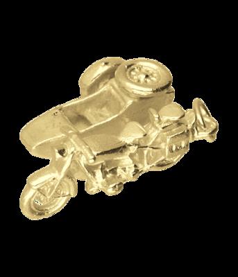 Gouden BMW zijspan motor kettinghanger