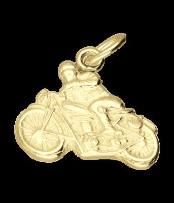 Gouden Norton motor met rijder vlak kettinghanger
