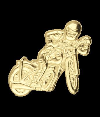 Gouden Motor off the road met rijder kettinghanger