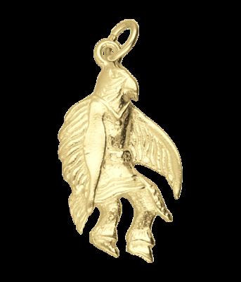 Gouden Vogelman indiaan kettinghanger