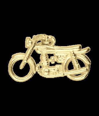 Gouden Engelse motor 3D kettinghanger