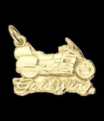 Gouden Honda goldwing motor vlak kettinghanger