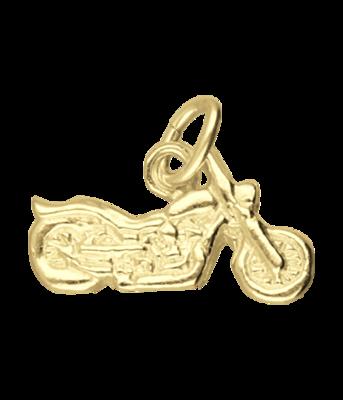 Gouden Harley Davidson motor vlak klein kettinghanger