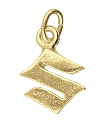 Gouden Suzuki motor logo kettinghanger
