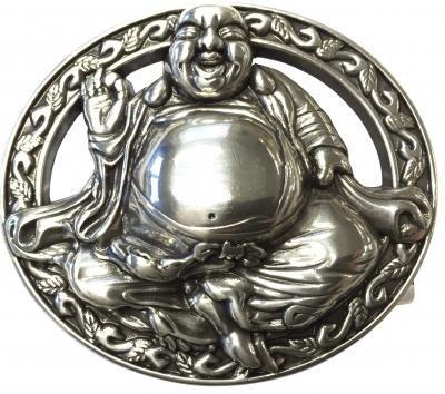 Mooye Gesp Boeddha  -  te combineren met riem breedte 4 cm
