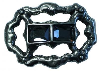 Mooye Gesp Duosteen zwart  -  te combineren met riem breedte 4 cm
