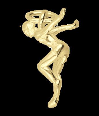 Gouden Zwemmer startduik ketting hanger