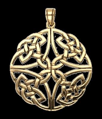 Keltische knoop in kruis ketting hanger - brons