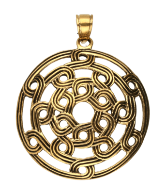 Keltische knoop rond ketting hanger - brons